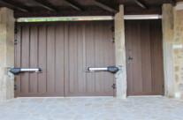Interior puerta de garaje en Segovia